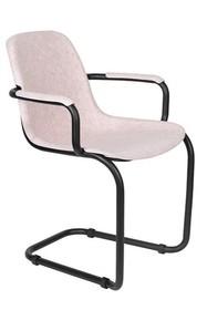 Krzesło z podłokietnikami THIRSTY - jasno różowy