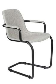 Krzesło z podłokietnikami THIRSTY - popielaty szary