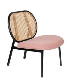 Fotel SPIKE - naturalny/różowy