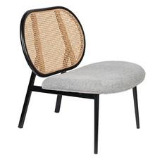 Fotel SPIKE - naturalny/szary