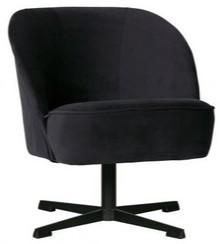 Fotel obrotowy VOGUE - aksamit atramentowy