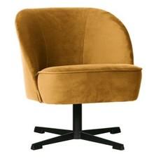 Fotel obrotowy VOGUE - aksamit musztardowy
