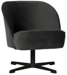 Fotel obrotowy VOGUE - aksamit czarny