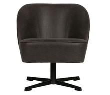 Fotel obrotowy VOGUE - skóra czarna
