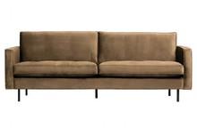 Sofa RODEO 2,5 classic - ciemnobrązowy