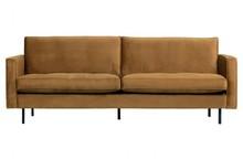 Sofa RODEO 2,5 classic - miodowy żółty