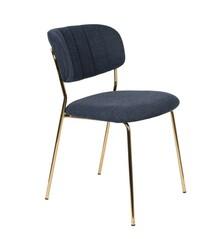 Krzesło JOLIEN - złoty/granatowy