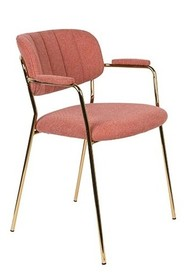 Fotel JOLIEN złoty/różowy