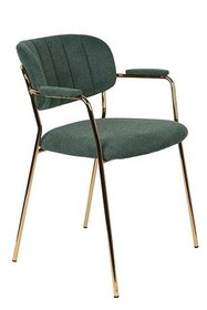 Fotel JOLIEN złoty/ciemny zielony