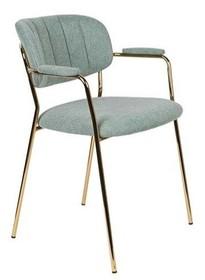 Fotel JOLIEN złoty/jasno zielony
