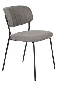 Krzesło JOLIEN - czarny/szary