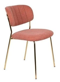 Krzesło JOLIEN - złoty/różowy