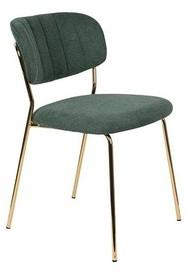 Krzesło JOLIEN - złoty/ciemny zielony