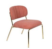 Fotel JOLIEN - złoty/różowy
