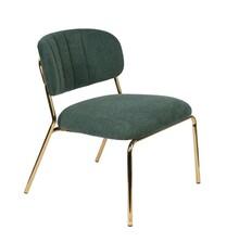 Fotel JOLIEN - złoty/ciemny zielony