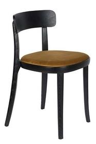 Krzesło BRANDON - czarny/ochre