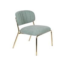 Fotel JOLIEN - złoty/jasny zielony