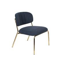 Fotel JOLIEN - złoty/granatowy