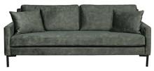 Sofa 3-osobowa HOUDA - leśny zielony