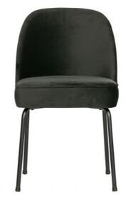 Krzesło VOGUE - aksamit czarny
