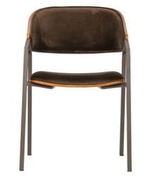 Krzesło CLAN - aksamit brązowy
