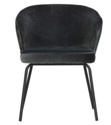 Krzesło ADMIT - aksamit czarny