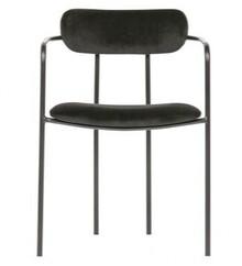 Krzesło IVY aksamit - czarny