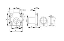 ZAMEK X850T FI19X22MM/TABULAR/BLOKADA KLUCZA - Siso