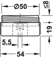 Systemy cokołowe Ślizgacz czarny 2-częściowy 54x19mm tworzywo sztuczne Hafele - Häfele