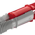 Złącze rozpierające się, Häfele Ixconnect SC 8/25,tworzywo sztuczne opk. 100 szt - do płyt o grubości: od 15 mm  - łącznik jednoczęściowy, -...