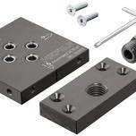 Wzornik wiertarski,do łącznika rozprężnego Häfele Ixconnect SC 8/60  Do płyt o grubości 15, 16, 18 i 19 mm Zastosowanie do łącznika rozprężnego...