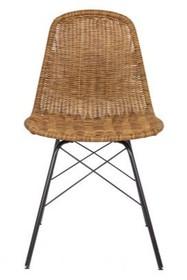 Zestaw dwóch krzeseł - naturalny