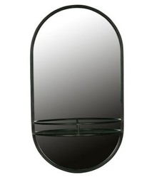 Metalowe lustro MAKE-UP - czarny