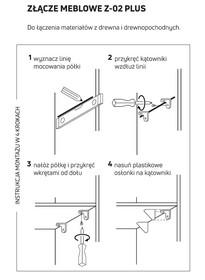 Złącze Meblowe Regulowane Z-02 Plus Olcha 12 Szt. - Aluprofil