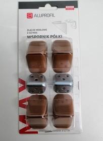 Złącze Meblowe Z-02 MAX Orzech 8 Szt. - Aluprofil