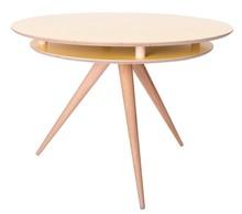 Stół jesionowy TRIAD 105x75cm - żółty