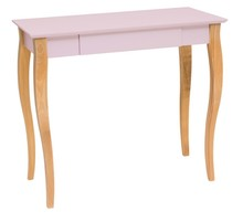 Biurko z szufladą LILLO 85x40 cm - różowy