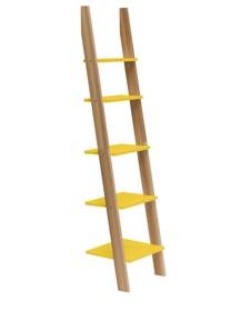 Regał drabinka ASHME 45x35x180cm - żółta