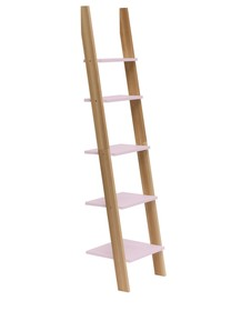 Regał drabinka ASHME 45x35x180cm - różowa