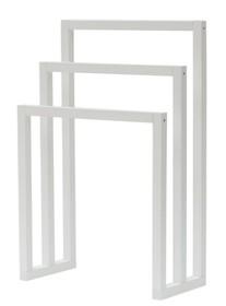 Drewniany wieszak TRIVENTI - biały / potrójny