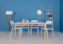 Stół ZEEN z półką 140x90x78cm - biały