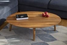 Stolik kawowy CONTRAST OVO 110x70x31 cm - dąb