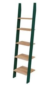 Regał drabinka ASHME 45x35x180cm - jesionowe półki / zielona