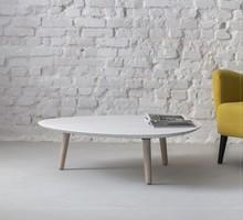 Stolik kawowy CONTRAST PICK 103x97x31 cm - biały jesion