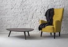 Stolik kawowy CONTRAST PICK 103x97x31 cm - szary jesion