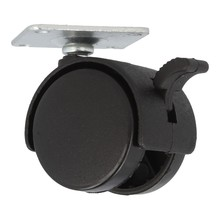 Kółka Kółko fi 40 czarny nylon płytka 42x42mm z hamulcem - Siso