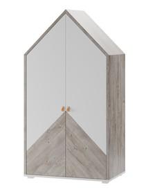 Szafa 2-drzwiowa DOMINI 03 - dąb ribbeck/biały