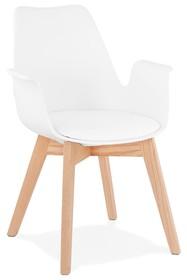 Krzesło ALCAPONE - biały/naturalny
