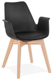 Krzesło ALCAPONE - czarny/naturalny