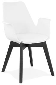 Krzesło ALCAPONE - biały/czarny